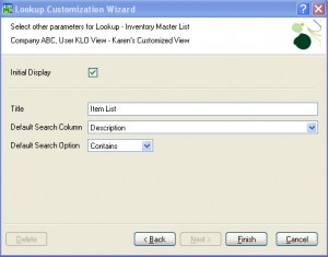 itemlist42 300x235 | MAS90/200 Tip:  How to Change the Default Search Operator