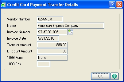 APTrans8 | MAS90/200 Tip: How to Record a Vendor Purchase made by Credit Card